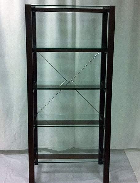 Item #306   Glass Shelving Unit
