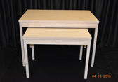 #407 Nesting tables - off white